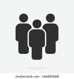 Person symbol, People vector, Work Group Team, Persons Crowd Vector Illustration icon.