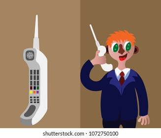 a person uses a satellite telephone,