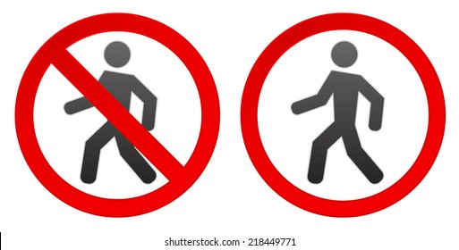 person walk warning stop sign icon