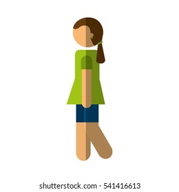 person walking isolated icon vector illustration design