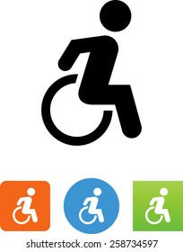 Person in a wheelchair / Handicap / Accessibility icon