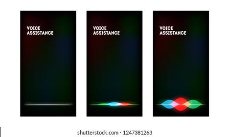 Personal assistant, voice intelligent technologies, sound recognition concept.