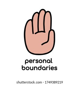 Personal boundary. The limit line as a protection of personal space. vector illustration. concept of social distance vector illustration in flat style. for blogs, articles, and social networks