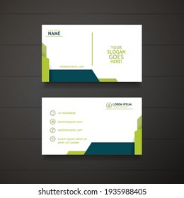 Personal Business Card with Company logo and Abstract Editable Business Card