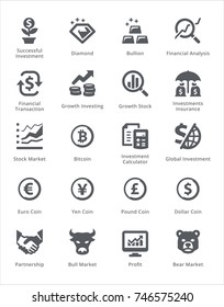 Personal & Business Finance Icons Set 4 - Black Series