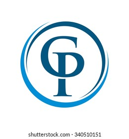 Personal Center Business, C P initial Logo Template