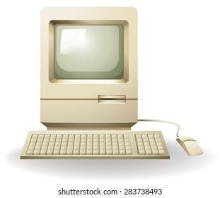 Personal computer in old-fashioned look
