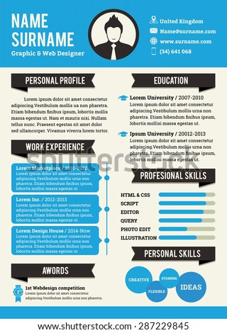 Personal Curriculum Vitae Template Simplicity Professional Stock ...