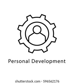 Personal Development Vector Line Icon