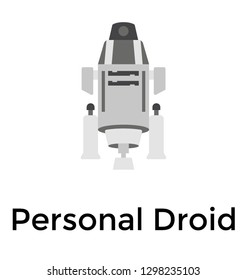 Personal droid flat details icon
