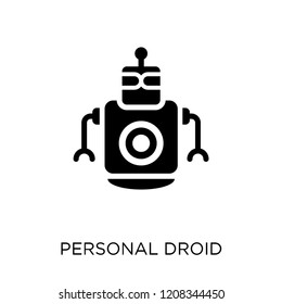 Personal droid icon. Personal droid symbol design from Future technology collection.