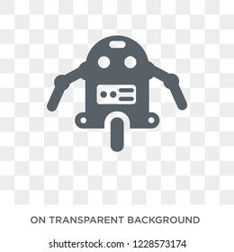 Personal droid icon. Trendy flat vector Personal droid icon on transparent background from Artificial Intelligence, Future Technology collection.