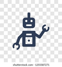 Personal droid icon. Trendy Personal droid logo concept on transparent background from Artificial Intelligence collection