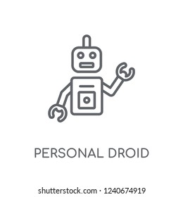 Personal droid linear icon. Modern outline Personal droid logo concept on white background from Artificial Intellegence and Future Technology collection.