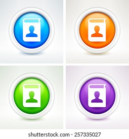 Personal File on Colorful Round Buttons