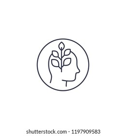 personal growth line icon