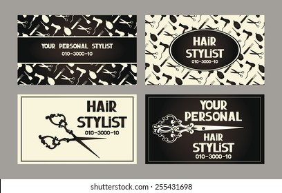 Personal hair stylist cards