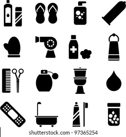 Personal hygiene icons