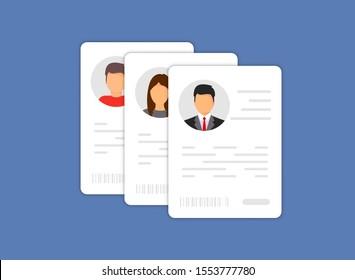 Personal info data icon. Identification Card Icon. Personal info data icon. User or profile card details symbol, identity document with person photo and text. Car driver, driving license, id card