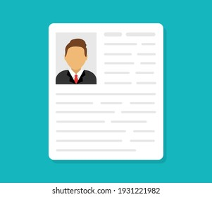 Personal info data. ID cards. Identification document with person photo. User or profile card. Driver's license. Flat style. Vector illustration.