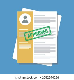 personal information application form with stamp approved