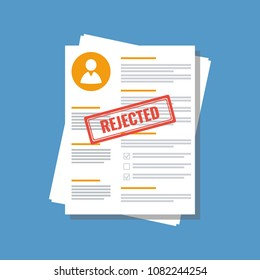 personal information application form with stamp rejected