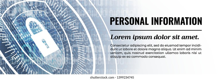 Personal Information - Excellent Web Banner Template. Vector illustration.