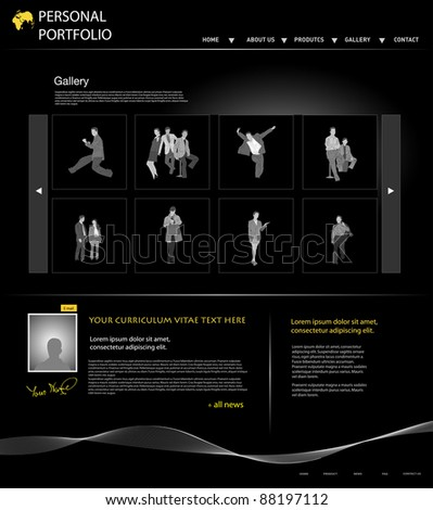 Personal Portfolio Website Template Business People Stock