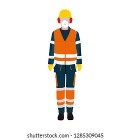 Personal Protective Equipment and Wear set. Occupational Safety and Health poster, sign and postcard