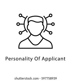 Personality of Applicant Vector Line Icon