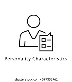 Personality Characteristics Vector line Icon