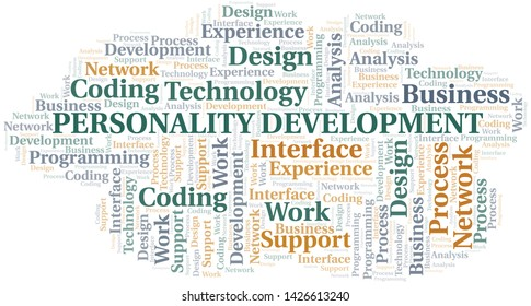 Personality Development word cloud. Wordcloud made with text only.