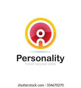 Personality Icon Vector Logo Template