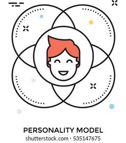 Personality Model Vector Icon