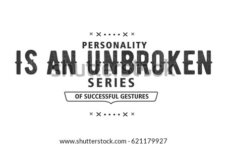 Personality Unbroken Series Successful Gestures Personality Stock