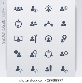 Personnel management, human resources, hrm icons, vector illustration, eps10, easy to edit
