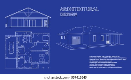 House blueprint images stock photos vectors shutterstock perspective 3d floor plan and cross section suburban house drawing of the modern building malvernweather Images