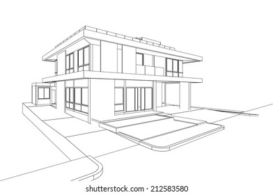 Wireframe House Images Stock Photos Vectors Shutterstock