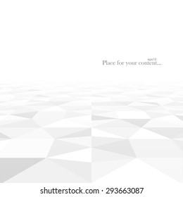 Perspective abstract background with white geometric shapes. Vector illustration - eps10.