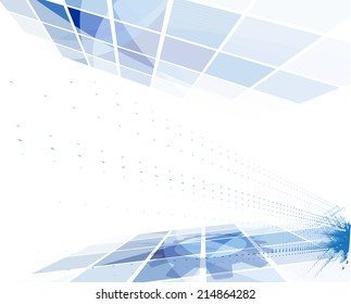 Perspective Concept for New Technology Corporate Business & development background