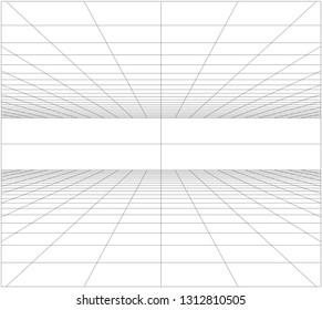 Perspective grid floor ceiling VECTOR EPS10