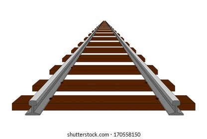 A perspective illustration of track