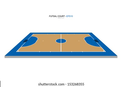 Perspective view of futsal court - Vector illustration