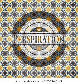 Perspiration arabic style emblem. Arabesque decoration.