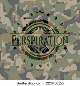 Perspiration camouflage emblem
