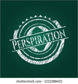 Perspiration chalkboard emblem