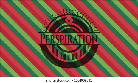 Perspiration christmas badge background.