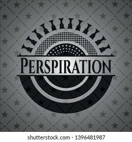 Perspiration dark emblem. Vector Illustration. Detailed.