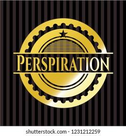 Perspiration gold emblem or badge