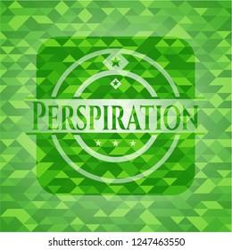 Perspiration green mosaic emblem